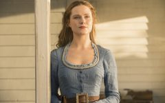 Above: Evan Rachel Wood is Dolores Abernathy