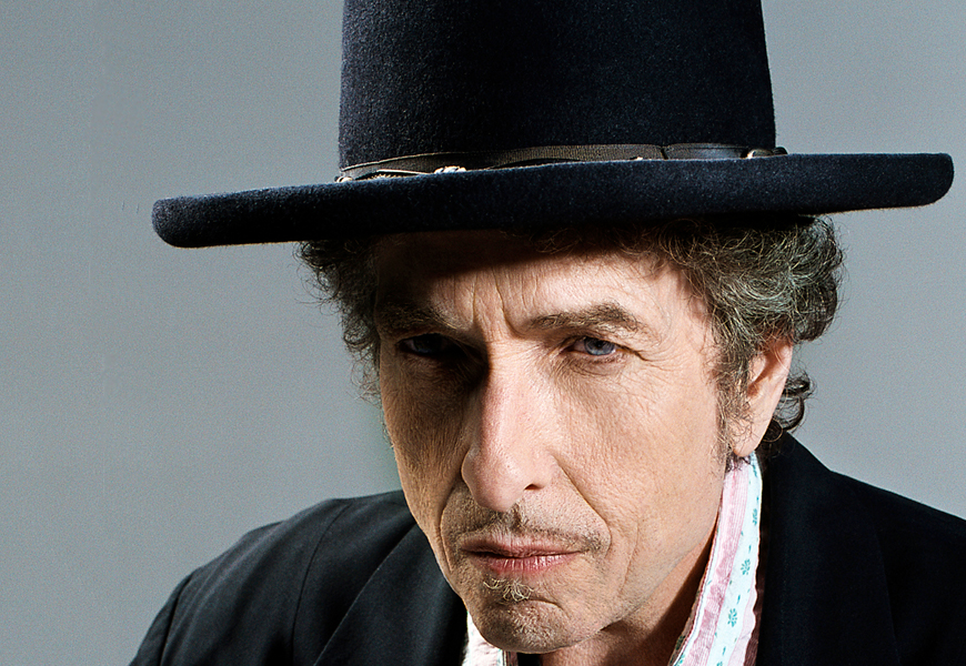 Above: American singer songwriter Bob Dylan has won the 2016 Nobel prize for literature