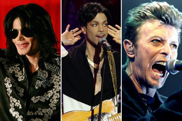 Above: Michael Jackson, Prince and David Bowie were among the highest-paid dead celebrities in 2016