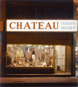 Le Chateau's first store opened in 1958 in downtown Montréal