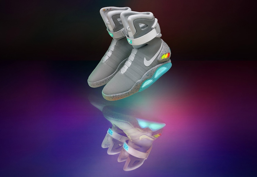 Above: You can finally own the self-lacing shoe from 'Back To The Future'