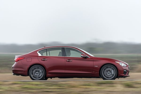 Above: The 2016 Infiniti Q50 Red Sport 400