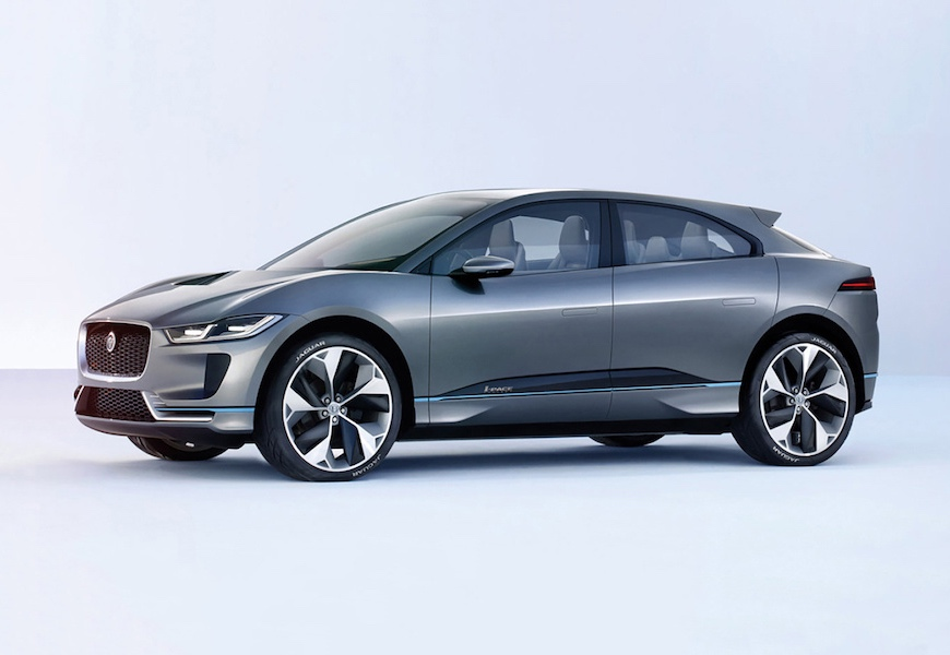 Above: Jaguar 'I-Pace' will go on sale in 2018