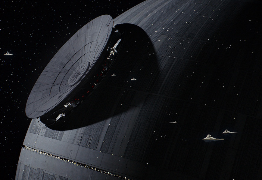 Above: The Death Star nears completion in 'Rogue One'