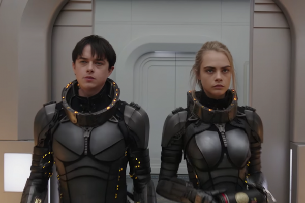 Above: Dane DeHaan and Cara Delevingne star in Hollywood's next space epic