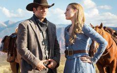Above: James Marsden and Evan Rachel Wood star in the HBO sci-fi
