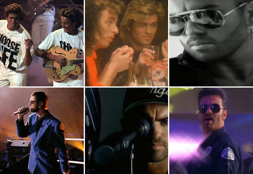 Above: A few of George Michael's most memorable tracks