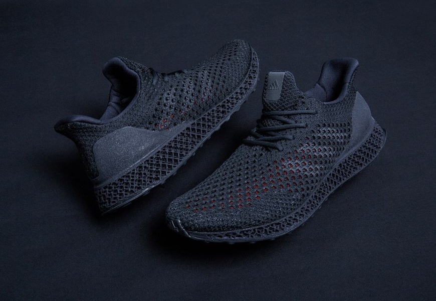 Above: The new Adidas trainers are also 3D printed