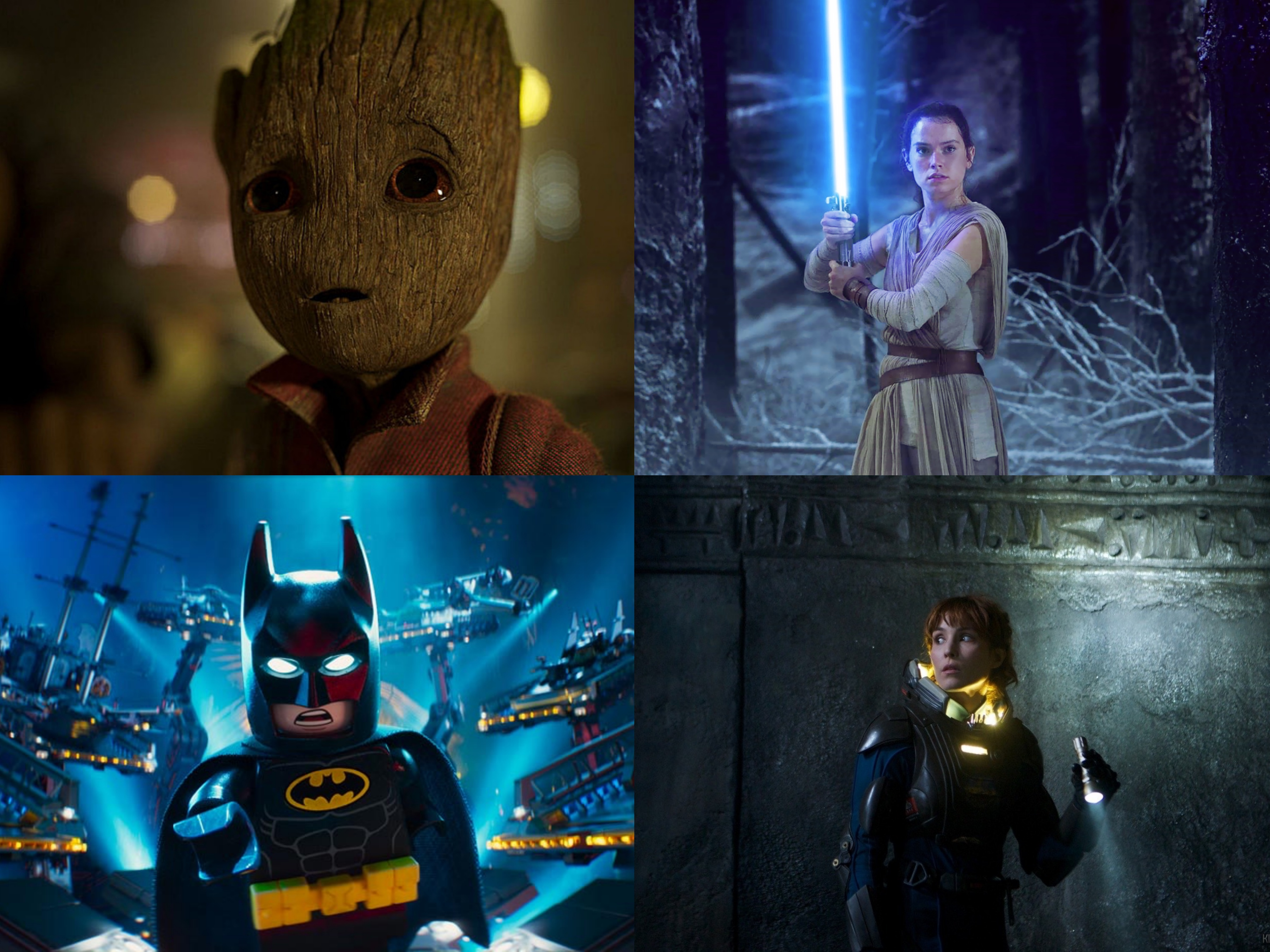 Above: Sequels, spin-offs, and prequels are set to hit theatres in 2017