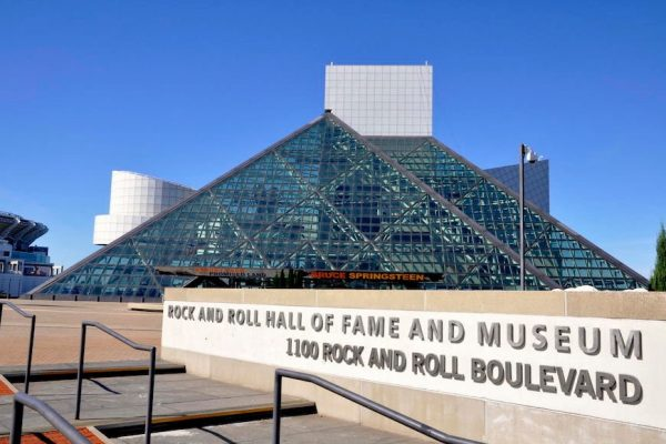 Above: The Rock and Roll Hall of Fame in Cleveland, Ohio
