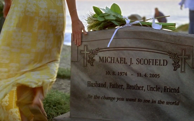 20 Things You Probably Never Knew About Prison Break -Michael Scofield tombstone