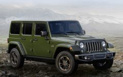 Above: The Jeep Wrangler Unlimited Sahara 75th Edition