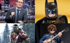 Above: 'Last Week Tonight', 'Lego Batman', Ryan Adams, and 'For Honor' are headed your way this month