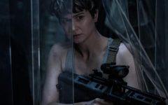 Above: Katherine Waterston plays Daniels in 'Alien Covenant'