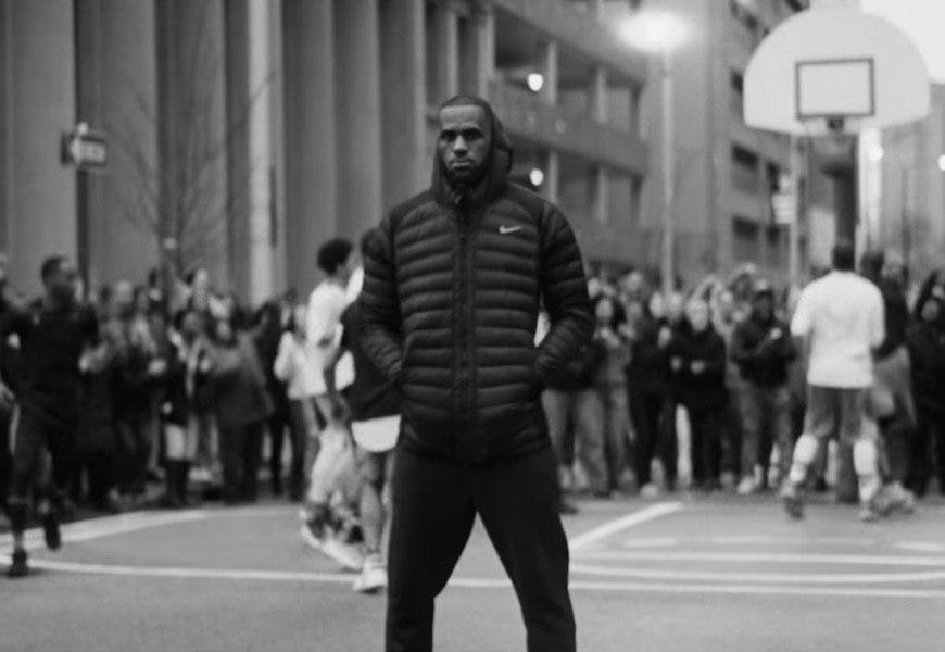 Above: LeBron James stands up for equality