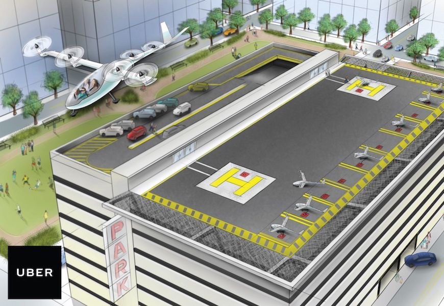 Above: Is air travel the future of ride-sharing?