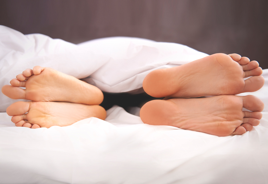 Above: Losing sleep isn't exactly good for your relationship, anyway