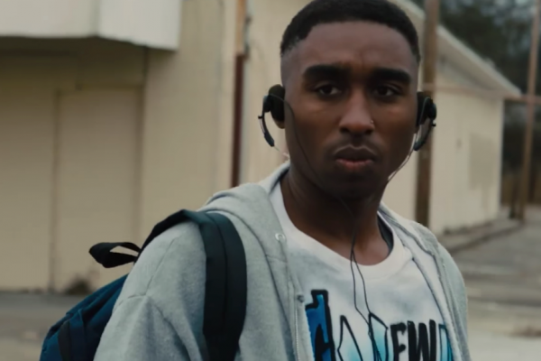 Above: Demetrius Shipp Jr. is Tupac Shakur