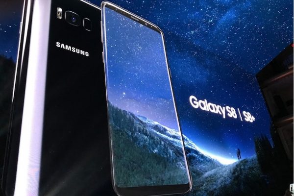 Above: The Samsung Galaxy S8 was finally unveiled this week