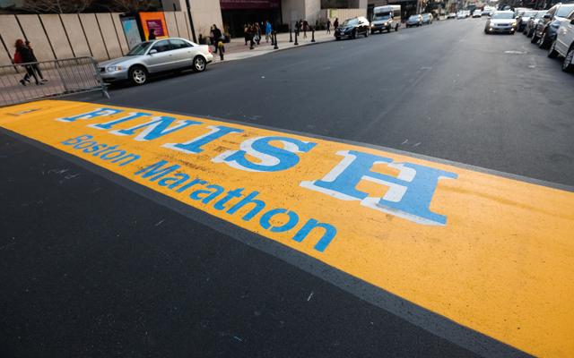 118th Boston Marathon Finish Line