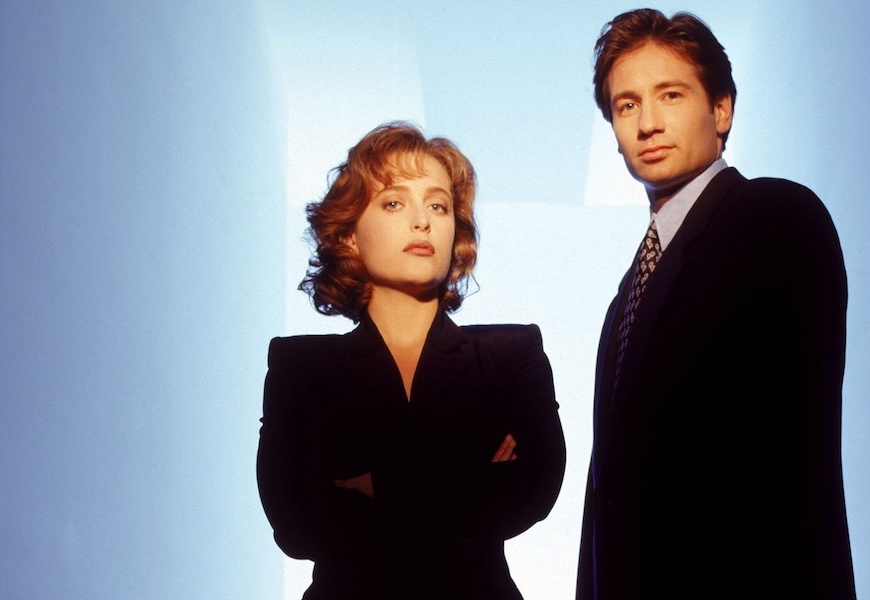 Above: Mulder and Scully are back at it again