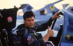 Above: Tom Cruise in the 1986 classic, 'Top Gun'