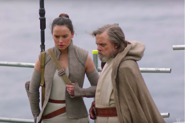 Above: Vanity Fair is giving fans an exclusive look at the next 'Star Wars' flick