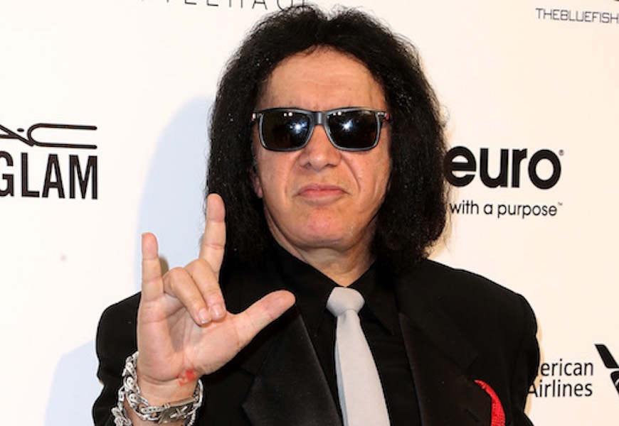 Above: The Kiss frontman is making a bold claim