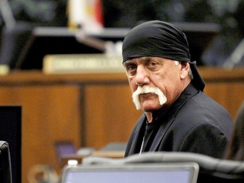 Above: Hulk Hogan appears in court last year