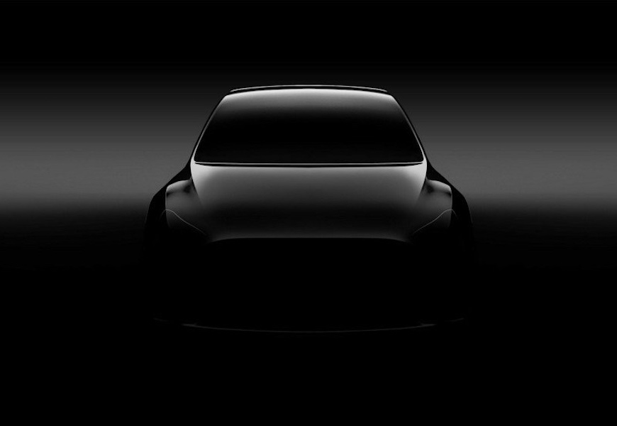 Above: The new Model Y will debut in 2019