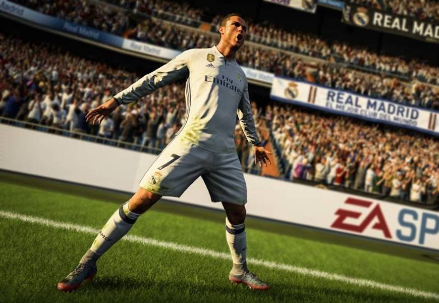 Above: CR7 graces the cover of the popular video game