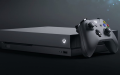 Above: 'Xbox One X' is an updated, 4K version of its predecessor