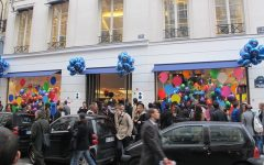 Above: Customers crowd a busy Colette storefront.