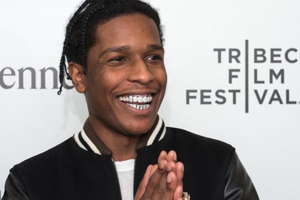 Above: A$AP Rocky appears at the Tribeca Film Festival (2015)