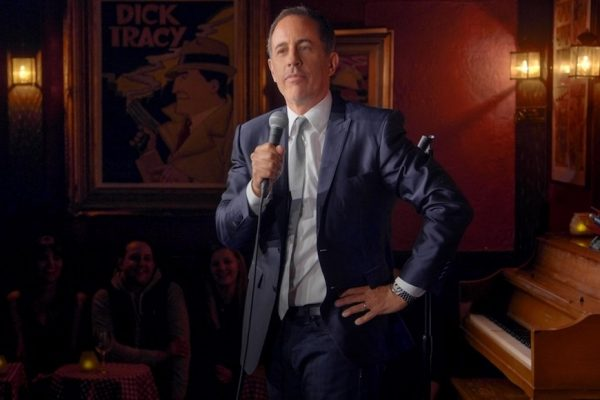 Above: Jerry Seinfeld performs at The Comic Strip in New York City