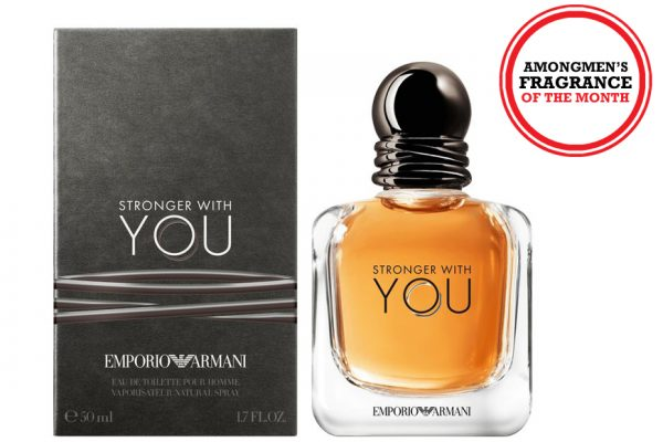 Above: Emporio Armani's 'Stronger With You' fragrance