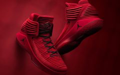 "Above: The ""Rosso Corsa"" Air Jordan 32s"