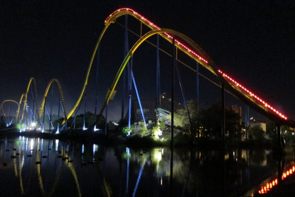 Thrilling rides in the dark at Canada's Wonderland