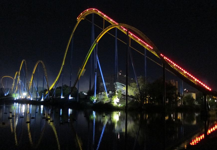 Thrilling rides in the dark at Canada's Wonderland
