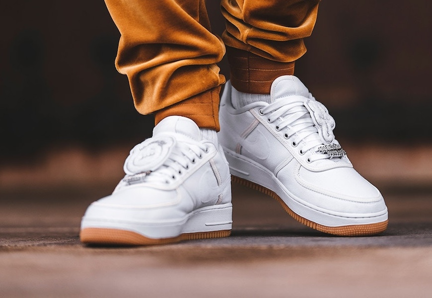 Above: The new Travis Scott Af1s will drop this weekend