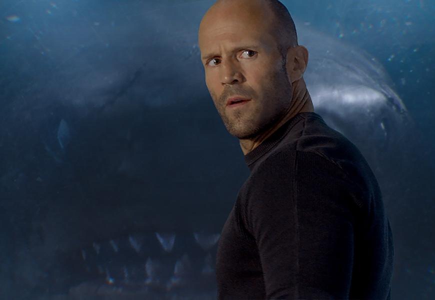 Above: Jonas Taylor (Jason Statham) encounters the mythic megalodon