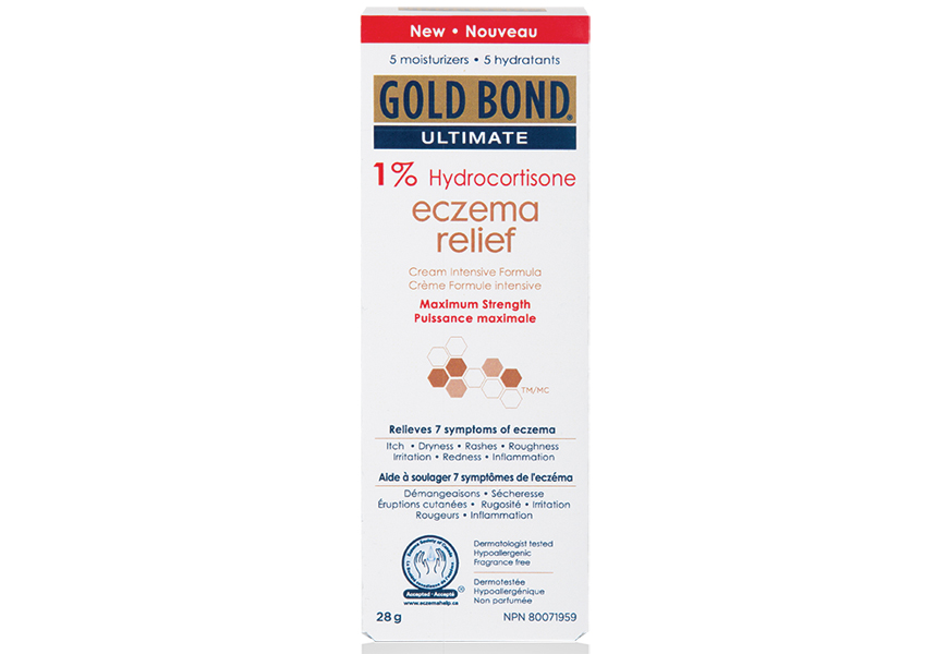 Above: Gold Bond's Ultimate 1% Hydrocortisone Eczema Relief Cream