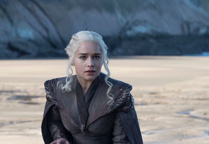Above: Emilia Clarke as Daenerys Targaryen in HBO's 'Game of Thrones'