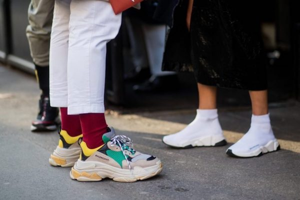 Above: The Balenciaga Triple S has dominated the curb this year