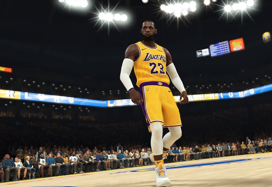 Above: Your first digital look at LeBron James in Lakers gear