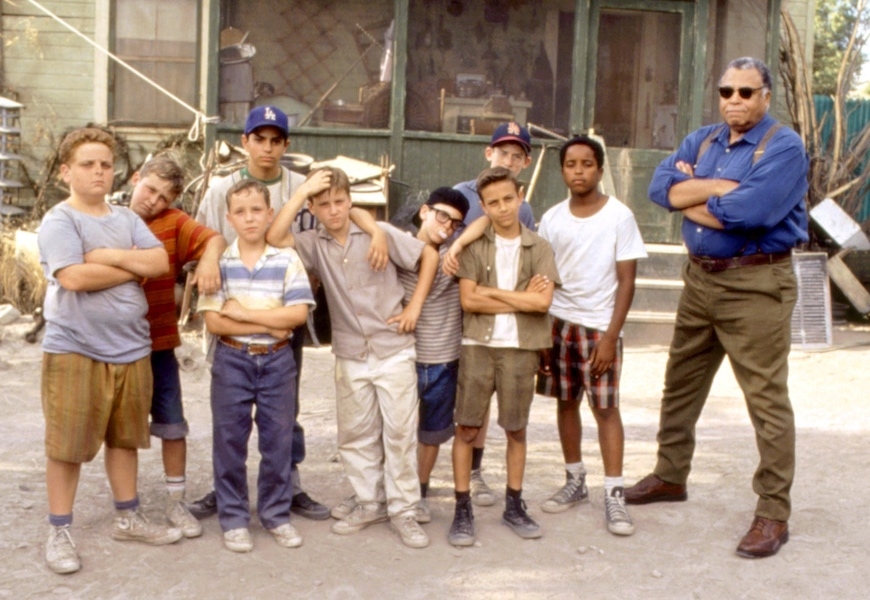 Above: The original cast of 'The Sandlot' (1993)
