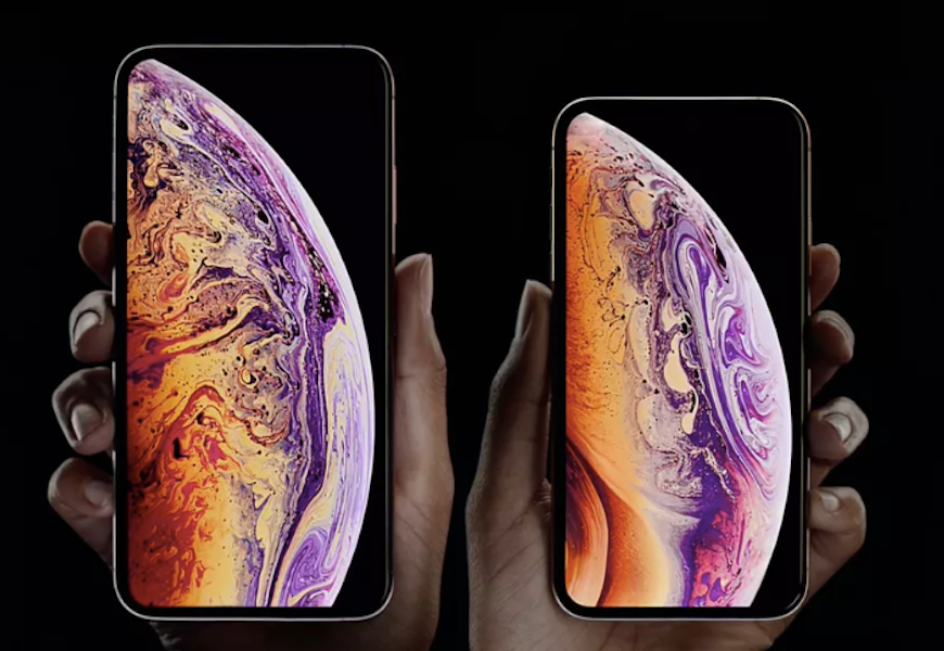 Above: A screenshot of the Apple event in California (September 12, 2018)