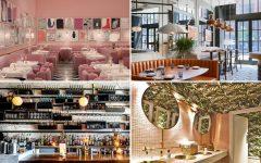 Above (clockwise): Sketch restaurant in London, Proxi restaurant in Chicago, Ours restaurant in London, and Ufficio restaurant in Toronto