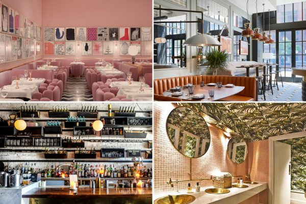 Above (clockwise): Sketch restaurant in London, Proxi restaurant in Chicago, Ours restaurant in London, and Ufficio restaurant in Toronto