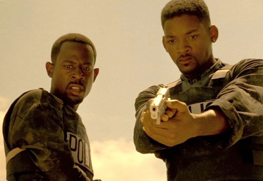 Above: Martin Lawrence and Will Smith as Marcus Burnett and Mike Lowrey